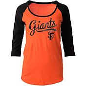 5th & Ocean Women's San Francisco Giants Orange Three-Quarter Sleeve Shirt