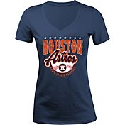 5th & Ocean Women's Houston Astros Navy V-Neck T-Shirt