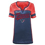 5th & Ocean Women's Houston Texans Burnout Navy V-Neck T-Shirt