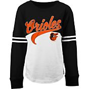 5th & Ocean Youth Girls' Baltimore Orioles Pink/White Three-Quarter Sleeve Shirt