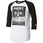 adidas Boys' Home Run Hero ¾ Sleeve Shirt