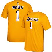 adidas Men's Los Angeles Lakers D'Angelo Russell #0 climalite Gold T-Shirt