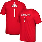 adidas Men's Houston Rockets Trevor Ariza #1 climalite Red T-Shirt