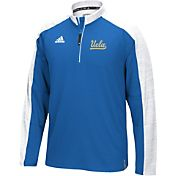 adidas Men's UCLA Bruins True Blue/White Sideline Long Sleeve Quarter-Zip Shirt
