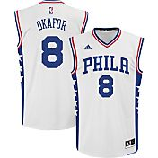adidas Youth Philadelphia 76ers Jahlil Okafor #8 Home White Replica Jersey