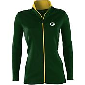 Antigua Women's Green Bay Packers Leader Full-Zip Green Jacket