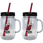 Boelter Miami Heat 20oz Handled Straw Tumbler 2-Pack