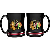 Boelter Chicago Blackhawks Relief 14oz Coffee Mug 2-Pack
