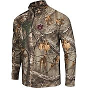 Colosseum Athletics Men's Auburn Tigers Camo Decoy Quarter-Zip Wind Shirt