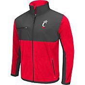Colosseum Athletics Men's Cincinnati Bearcats Red/Grey Mesa Polar Fleece Jacket