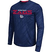 Colosseum Athletics Men's Gonzaga Bulldogs Blue Sleet Long Sleeve Performance Shirt