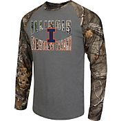 Colosseum Athletics Men's Illinois Fighting Illini Grey/Camo Break Action Long Sleeve Shirt
