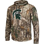 Colosseum Athletics Men's Michigan State Spartans Camo Breech Pullover Hoodie