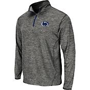 Colosseum Athletics Men's Penn State Nittany Lions Grey Action Pass Quarter-Zip