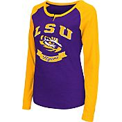 Colosseum Athletics Women's LSU Tigers Purple Healy Long Sleeve Shirt