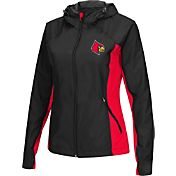 Colosseum Athletics Women's Louisville Cardinals Black/Cardinal Red Step Out Windbreaker