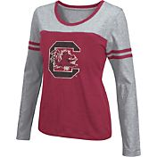 Colosseum Athletics Women's South Carolina Gamecocks Garnet Leap Scoop Neck Long Sleeve Shirt