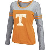 Colosseum Athletics Women's Tennessee Volunteers Tennessee Orange Leap Scoop Neck Long Sleeve Shirt