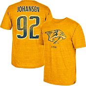 CCM Men's Nashville Predators Ryan Johanson #92 Vintage Replica Gold Player T-Shirt