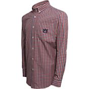 Campus Specialties Men's Auburn Tigers Multi-Checkered Woven Long Sleeve Shirt
