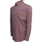 Campus Specialties Men's Syracuse Orange Multi-Checkered Woven Long Sleeve Shirt