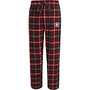 Concepts Sport Men's Georgia Bulldogs Black/Red Ultimate Plaid Sleep Pants