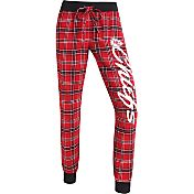 Concepts Sports Women's Kansas City Chiefs Red/White Flannel Jogger Pants