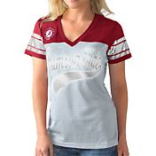 G-III For Her Women's Alabama Crimson Tide Grey/Crimson Pass Rush T-Shirt