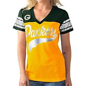 G-III for Her Women's Green Bay Packers Pass Rush Jersey Top
