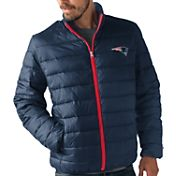 G-III Men's New England Patriots Sky Box Full-Zip Navy Packable Jacket