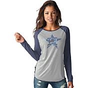 Touch by Alyssa Milano Women's Houston Astros Grey/NavyLong Sleeve Shirt
