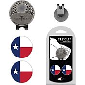 Team Golf Texas Flag Cap Clip and Ball Marker Set