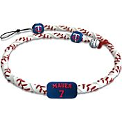 GameWear Minnesota Twins Joe Mauer Classic Jersey Frozen Rope Baseball Necklace