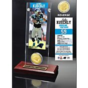 The Highland Mint Carolina Panthers Luke Kuechly Ticket and Bronze Coin Desktop Display