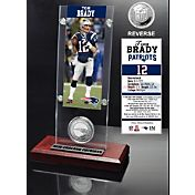 The Highland Mint New England Patriots Tom Brady Ticket and Coin Desktop Display