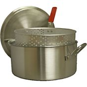 King Kooker 14 Quart Aluminum Deep Fryer Pan with Handles and Basket