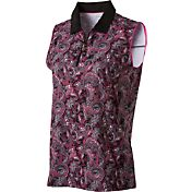 Lady Hagen Women's Paris Collection Paisley Print Sleeveless Golf Polo