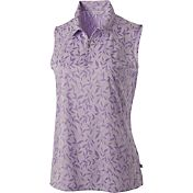 Lady Hagen Women's Aurora Collection Floral Sleeveless Golf Polo