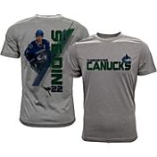 Levelwear Men's Vancouver Canucks Daniel Sedin #22 Grey Spectrum T-Shirt