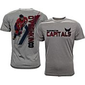 Levelwear Men's Washington Capitals Alex Ovechkin #8 Grey Spectrum T-Shirt