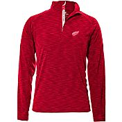 Levelwear Men's Detroit Red Wings Mobility Red Quarter-Zip Shirt