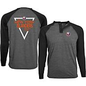 Levelwear Men's New York Islanders Navy Yield Henley Shirt