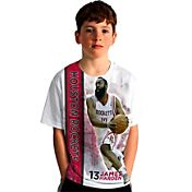 Levelwear Youth Houston Rockets James Harden Breakaway White T-Shirt