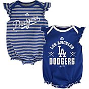 Majestic Infant Los Angeles Dodgers Two-Piece Sparkle Onesie Set