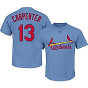 Majestic Men's St. Louis Cardinals Matt Carpenter #13 Light Blue Turn Back The Clock T-Shirt