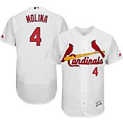 Majestic Men's Authentic St. Louis Cardinals Yadier Molina #4 Home White Flex Base On-Field Jersey