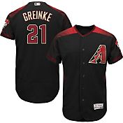 Majestic Men's Authentic Arizona Diamondbacks Zack Greinke #21 Alternate Black Flex Base On-Field Jersey