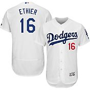 Majestic Men's Authentic Los Angeles Dodgers Andre Either #16 Home White Flex Base On-Field Jersey