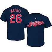 Majestic Men's Cleveland Indians Mike Napoli #26 Navy T-Shirt