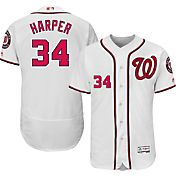 Majestic Men's Authentic Washington Nationals Bryce Harper #34 Home White Flex Base On-Field Jersey